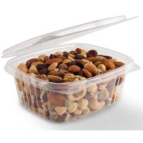Deli Container Hinged with Lids,  200 pcs,  #16 oz
