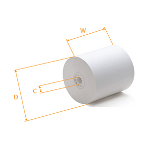Bond Paper Roll  3x 3x 165',  50pcs #Grey #RR30