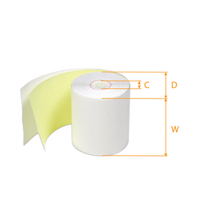 Bond Paper Roll-Receipt Kitchen 3 x 100/ 2Ply   -Orange