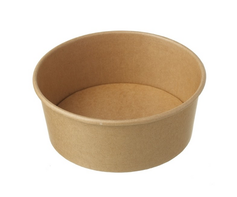 Hy Pax Eco Bowl Kraft Paper Food Container 8 oz 1000pcs