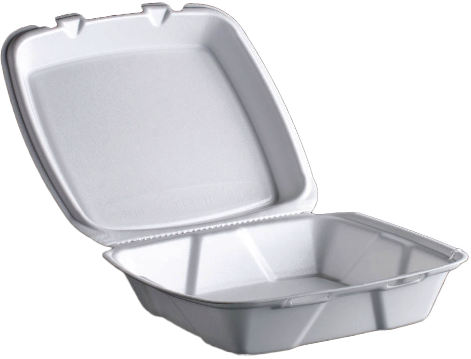 Foam Container, 1-Compartment,  9x9x3,  200 pcs,  #FST6