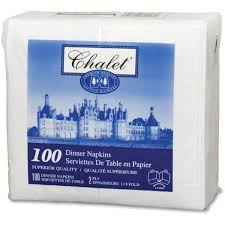Napkins DINNER,  2 PLY,  3000pcs #Chalet