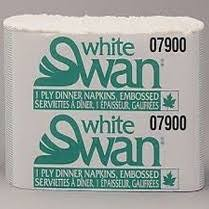 Dinner Napkins WHITE SWAN 1 PLY 3000pcs #7900