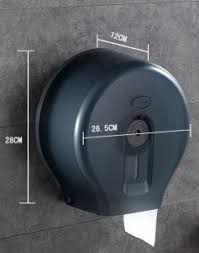 Dispenser For Single Jumbo Toilet Paper, Black-3151015