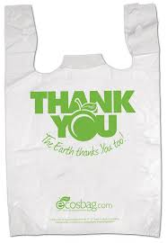 """Thank you"" Shopping Bag (Recycle)  11""x 21"" Green 1000pcs/ Case"