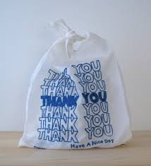 """Thank you"" Shopping Bag(Recycle) 11""x 20"" Blue 900pcs/ Case"