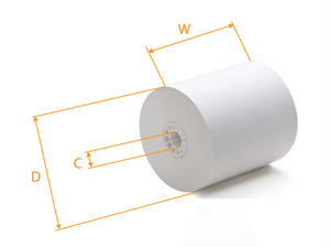 Thermal Paper Roll,  POS,   3-1/8'' x 180- 225  50/box  #Yellow