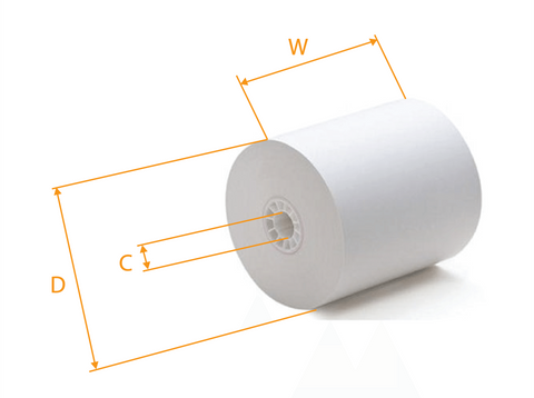 Thermal Paper Roll, POS, 3-1/8'' x 180'~ 225',  50pcs, #RR90,  #Yellow