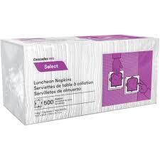 Lunch Napkins, 1 Ply-Cascade, 12x500,  6000pcs,  #N020