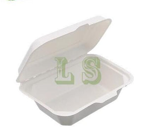 Sugarcane Bagasse Container, 7.25 x 5 x 2.5,  #600pcs, #New size