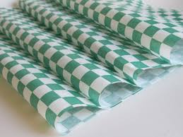 Wax Paper Green Checker Grease 12x12  1000/case