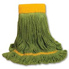 Mop Head, J W Loop, Synthetic, 20oz,  12pcs/cs,  Medium, #Green