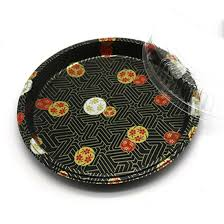 Sushi Tray Round Combo, 14'' , 100 Sets, #HQ-64