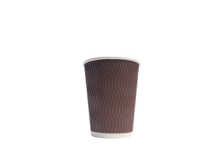 COFFEE CUPS  RIPPLE WALL  BROWN 16 OZ  500 PCS