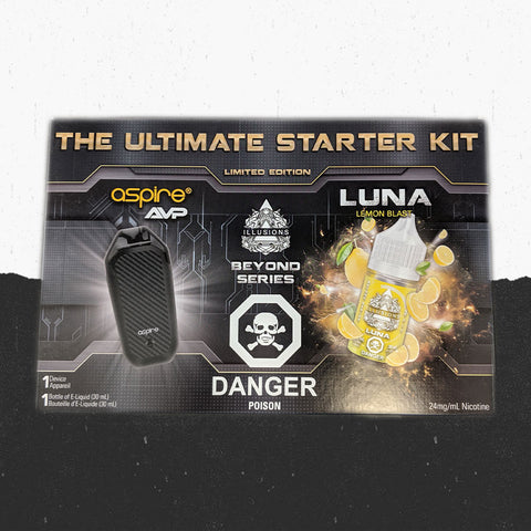Illusions Salts Luna + Aspire AVP Black Bundle Kit