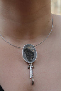 Mixed Media Art Necklace with Cross Artifact from 16th-18th Century - Ashley Lozano Jewelry