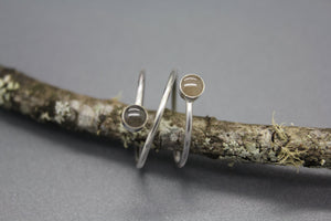 Cremation Wrap Around Ring with Dual Settings - Ashley Lozano Jewelry