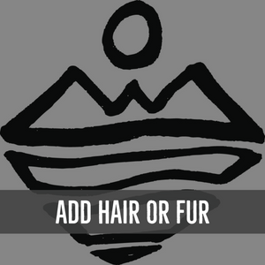 Add Hair or Animal Fur to Your Item - Add On Item