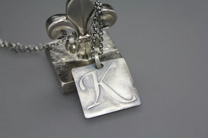 Wax Seal Initial Necklace - Ashley Lozano Jewelry