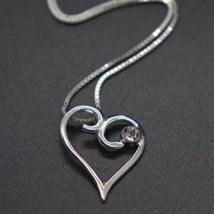 Sterling and Natural Quartz Cremation Ash Necklace - Ashley Lozano Jewelry