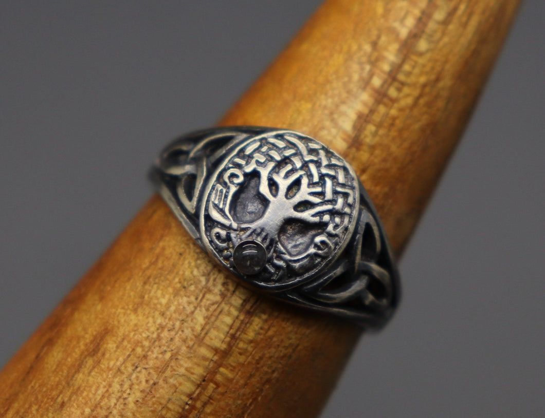 Celtic Tree of Life Ring with Cremation Ashes