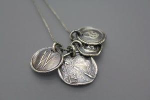 Wax Seal Monogrammed Necklace - Ashley Lozano Jewelry