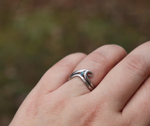 Wave Cremation Ring with Cremation Ashes - Ashley Lozano Jewelry
