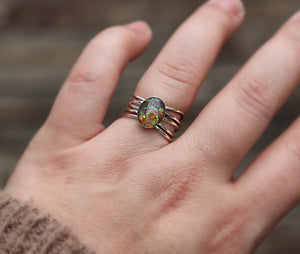 Multi-Band Sterling Silver Cremation Ring - Ashley Lozano Jewelry