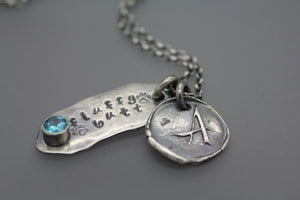Birthstone Cremation Necklace - Ashley Lozano Jewelry