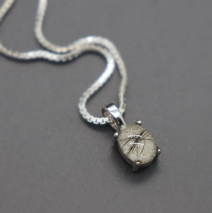Sterling Oval Keepsake Pendant with Lock of Hair - Ashley Lozano Jewelry