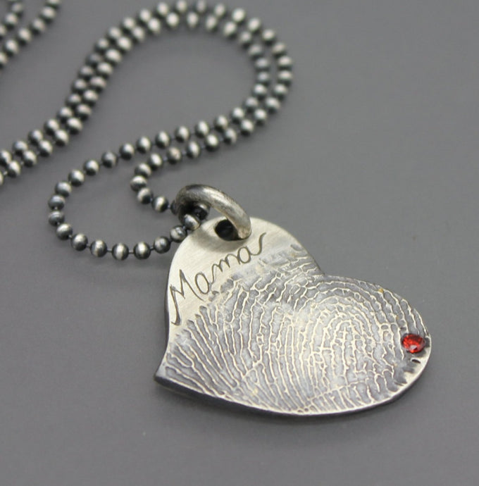 Custom Fingerprint Necklace - Ashley Lozano Jewelry