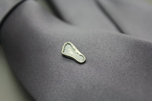 Custom Silver Baby Foot Print Tie Tack - Ashley Lozano Jewelry
