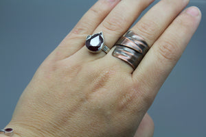 Textured Copper Wrap Ring - Ashley Lozano Jewelry