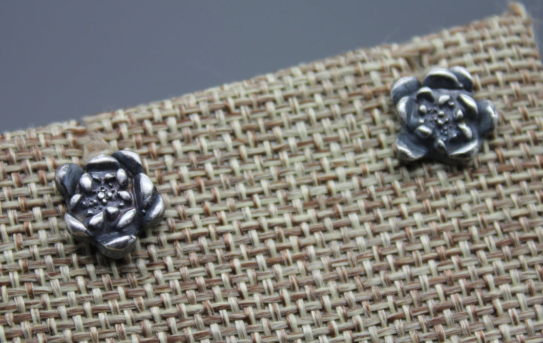 Succulent Plant Stud Earrings In Silver - Ashley Lozano Jewelry