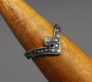 star cremation ring