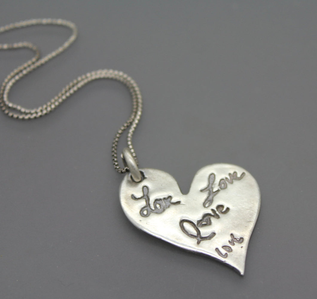 Personalized Silver Necklace With Your Actual Handwriting Or Signatures - Ashley Lozano Jewelry