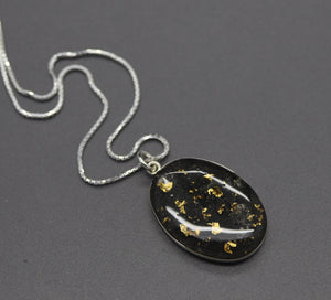 Oval Cremation Pendant Necklace