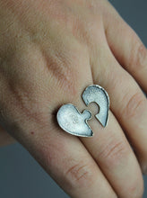 Couple's Personalized Fingerprint Ring In Sterling Silver With Your Actual Finger Prints - Ashley Lozano Jewelry
