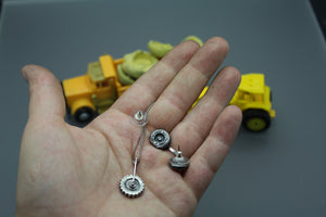 Boymom Earrings, Custom Tire Earrings Made From Your Child's Actual Toys - Ashley Lozano Jewelry