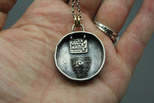 Reversible Sterling Fingerprint Necklace With Secret Compartment - Ashley Lozano Jewelry