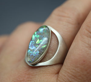 Oval Shaped Cremation Ashes Ring