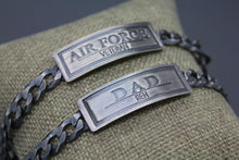 Custom Silver Men's Bracelet On Curb Chain - Ashley Lozano Jewelry