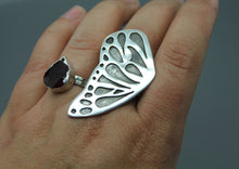 Large Silver Butterfly Statement Ring - Ashley Lozano Jewelry