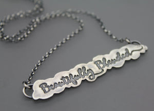 Silver Blended Family Necklace, RTS - Ashley Lozano Jewelry