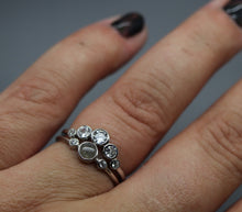 Stacking Silver Cremation Ashes Ring