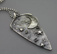 Moon Cremation Jewelry Necklace