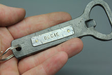 Hand Forged Bottle Opener with Infused Cremations - Ashley Lozano Jewelry