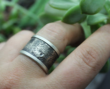 Unisex Wide Band Ring with Your Pet's Actual Prints - Ashley Lozano Jewelry