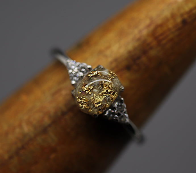 gold and silver cremation jewelry