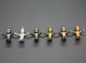Mardi Gras King Cake Baby Pendant- In Silver, Bronze, and Ancient Bronze - Ashley Lozano Jewelry
